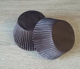 Бумажные формы коричневые, 12шт