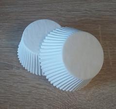 Бумажные формы белые, 12шт