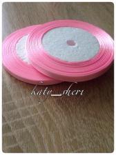 Лента атласная розовая, 1 см