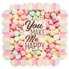 """Коробка для зефира, пряников, печенья """"You make me happy"""""""