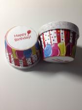 Ламинированные стаканчики Happy Birthday с разноцветными шариками № 2, 1 шт.