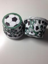 Ламинированные стаканчики Футбольные мячи, 1 шт.