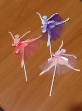 Балерина серебряная