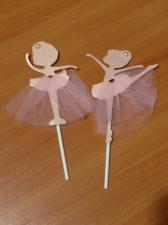 """Набор из двух светло-розовых топперов """"Балерина"""""""