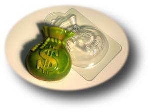 """Пластиковая форма """"Мешок долларов"""""""
