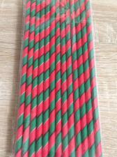 """Трубочки """"Спираль красно-зеленая"""", 26 шт."""