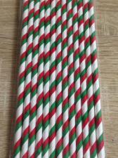 "Трубочки ""Спираль красно-зелено-белые"", 26 шт."