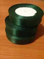 Лента атласная темно-зеленая, 2 см