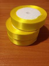 Лента атласная кислотно-желтая, 2 см