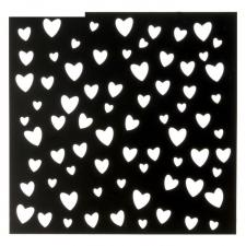 "Трафарет ""Сердца"", 15 х 15 см"