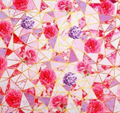 Бумага упаковочная глянцевая «Золотые треугольники», 70 × 100 см