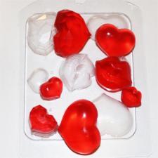 """Пластиковая форма """"Сердечки-поцелуйчики"""""""