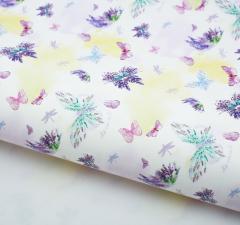 Бумага упаковочная глянцевая «Лавандовое утро», 70 × 100 см