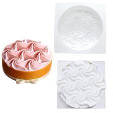 Силиконовая форма для муссовых тортов № 23