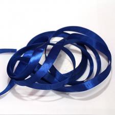 Лента атласная синяя, ширина 1 см