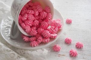 Мини безе розовые, 50 гр
