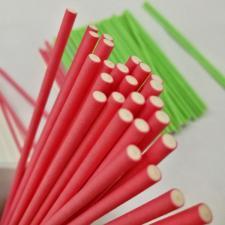 Палочки для кейкпопсов светло-красные, 10 шт.