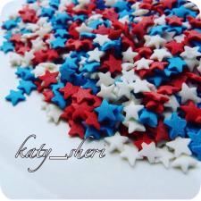 Посыпка Звезды красные, белые, синие, 50 гр