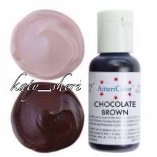 Гелевый краситель AmeriColor Chocolate Brown (Шоколадно-коричневая), 21 гр
