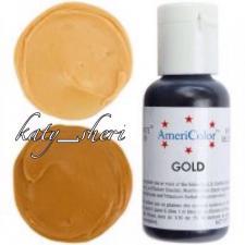 Гелевый краситель AmeriColor Gold (Золотой), 21 гр