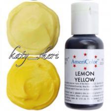 Гелевый краситель AmeriColor Lemon Yellow (Лимонно-желтый), 21 гр