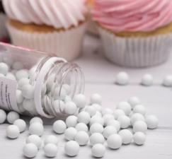 Сахарное драже глянец, белый, 10 мм, 100 г