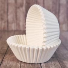 Бумажные формы белые h-2,5 см , 25 шт