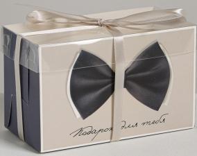 Коробка для  2 капкейков «Подарок для тебя», 16 × 8 × 10 см
