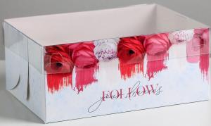 Коробка для  6 капкейков Follow your dreams, 23 × 16 × 10 см