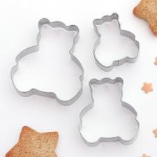 Набор форм для вырезания печенья «Мишки»