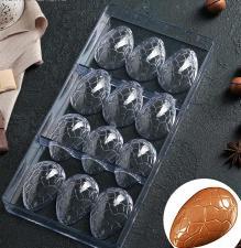 Форма для шоколада «Шоколадное яйцо», 27,5×13,5 см, 12 ячеек (3,6×5,7×1,5 см)