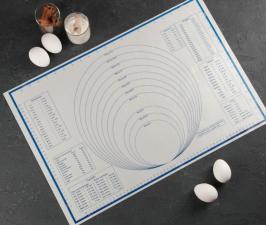 Коврик армированный с разлиновкой, 59×38,5 см