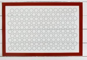 Коврик армированный для макаронс, 60×40 см