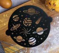 Идея торт Трафарет для выпечки «Космос», 30 × 35 см
