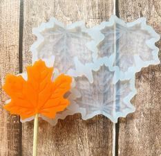 Молд силикон кленовые листья 6 см