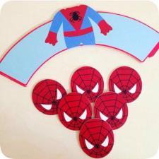 Бумажные топперы Человек-паук