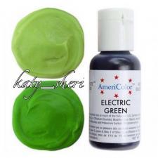 Гелевый краситель AmeriColor Electric green (зеленый электрик), 21 гр