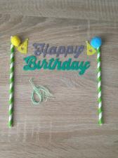 """Растяжка на торт """"HAPPY BIRTHDAY"""" № 1"""
