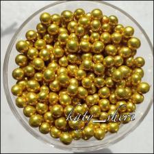 Драже шарики золотые металлизированные, 3 мм