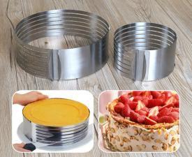 Регулируемое кольцо для резрезания бисквита