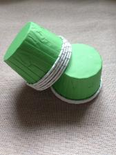 Стаканчики с ламинацией зеленые, 1 шт.