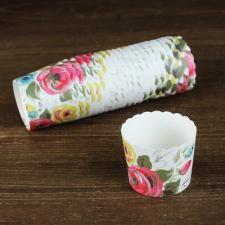 """Бумажные стаканчики """"Цветы"""", 1 шт."""