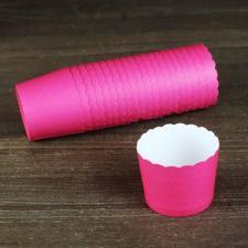 Бумажные стаканчики розовые, 1 шт.