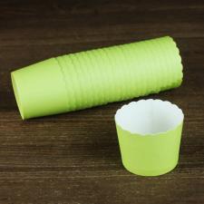 Бумажные стаканчики зеленые, 1 шт.