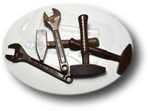 "Пластиковая форма ""Ключ и молоток"""