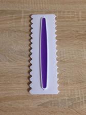 Скребок пластиковый с прорезиненной вставкой № 2
