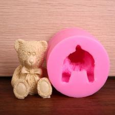 """Силиконовый молд """"3Д медведь"""""""